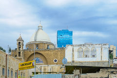 Maronite Cathedral of St. Louis the King, Haifa Stock Photos