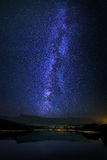 Marono reservoir with milky way at night Stock Photography