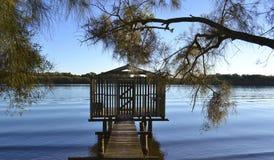 Maroochy flod, solskenkust, Queensland, Australien Arkivbilder