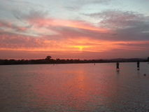 Maroochy River sunset Stock Photography