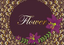 maroon лилии Иллюстрация штока