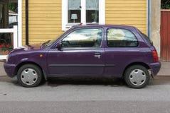 Maroon микроны Nissan Стоковое Изображение RF