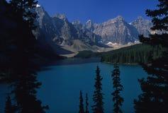 maroon озера Канады Стоковые Изображения RF