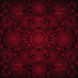 Maroon background. With ornaments - seamless Royalty Free Stock Photo