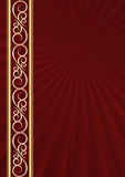 Maroon background. With golden ornaments Royalty Free Stock Images