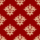 Maroon and beige seamless pattern Stock Photos