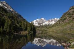 Maroon Bell Mountains Stock Photos