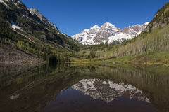 Maroon Bell Mountains Stock Photography