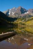 Maroon Bells. Autumn landscape of Maroon Bells near Aspen, Colorado Royalty Free Stock Images