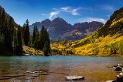 Maroon Bells in Aspen, Colorado royalty free stock photo
