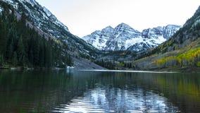 Maroon Bells Aspen Colorado 4k time-lapse stock video