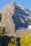 Maroon Bells in Autumn. Close up of of Maroon Bells (Aspen, Colorado) in the fall Royalty Free Stock Images