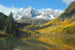 Maroon Bells, autumn Royalty Free Stock Images