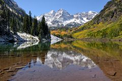 Maroon Bells in Autumn Royalty Free Stock Photo