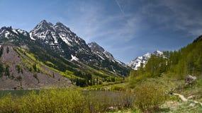 Maroon Bells, Colorado. Landscape view of Maroon Bells, Colorado, USA Stock Photo
