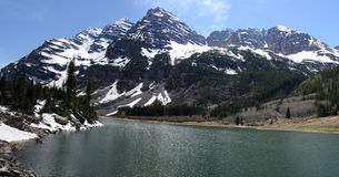 Maroon Bells and Crater Lake Royalty Free Stock Photos