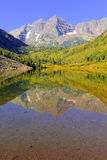 Maroon Bells, Elk Range, Rocky Mountains, Colorado Stock Photography