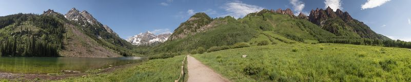 Free Maroon Bells - Extra Long Panoramic Royalty Free Stock Images - 161725999