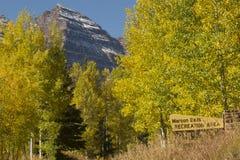 Maroon Bells in Fall. Maroon Bells Rcreation Area (Aspen, Colorado) in the fall Stock Image