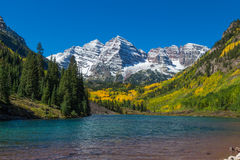 Maroon Bells Fall landscape Royalty Free Stock Images