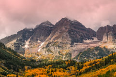 Maroon Bells in Fall Royalty Free Stock Photography