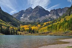 Maroon Bells and Lake Stock Photos