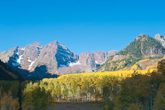 Maroon Bells Landscape Stock Photo
