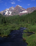 Maroon Bells & Maroon Creek Royalty Free Stock Photos