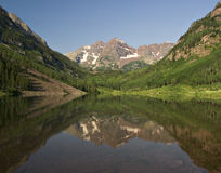 Maroon Bells and Maroon Lake Royalty Free Stock Photo
