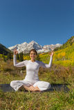 Maroon Bells Meditating Royalty Free Stock Image
