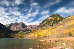 Maroon Bells Mountain in Colorado Stock Photos