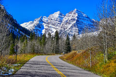 Maroon Bells Mountain Drive Stock Photos