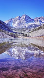 Maroon Bells mountain lake landscape, Colorado, USA. Stock Photography