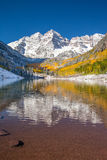 Maroon bells national park in fall color, Colorado. Maroon bells national park Apen, CO royalty free stock image