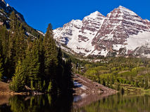 The Maroon Bells near Aspen, Colorado. The famous Maroon Bells near Aspen, Colorado. the most photographed mountain peaks in North America Stock Image