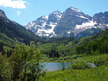 The Maroon Bells stock images
