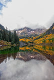 Maroon Bells Reflection in Fall Stock Photos