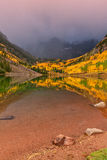 Maroon Bells Reflection in Fall Royalty Free Stock Images