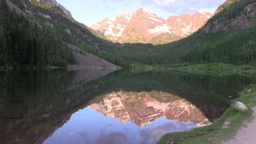 Maroon Bells Reflection in Summer stock footage