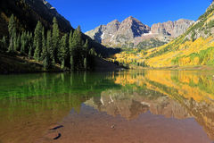 The Maroon bells in the Rocky Mountains Royalty Free Stock Image