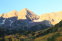 The Maroon bells in the Rocky Mountains Stock Images