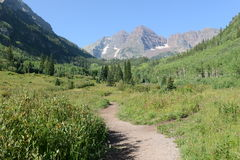 Maroon Bells, Rocky Mountains, Colorado Royalty Free Stock Image