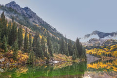 Maroon Bells Scenic in Fall Royalty Free Stock Photos