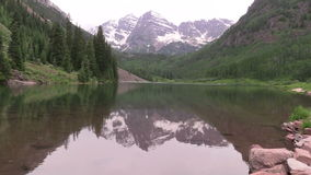 Maroon Bells Scenic Reflection in Summer stock video footage