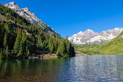 Maroon Bells Scenic in Summer Royalty Free Stock Image