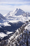 Maroon Bells With Snow Stock Photos