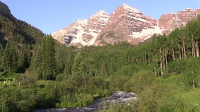 Maroon Bells Summer Landscape. The scenic maroon bells aspen colorado in summer stock footage