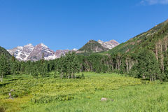 Maroon Bells Summer Landscape Stock Photos