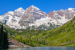 Maroon Bells Summer Landscape Royalty Free Stock Images