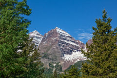 Maroon Bells in Summer Royalty Free Stock Image